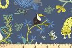 Clothworks - Jungle Jive - Animals - Navy (Y3111-89)