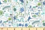 Clothworks - Jungle Jive - Creepy Crawlies - White (Y3113-1)