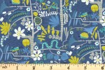Clothworks - Jungle Jive - Creepy Crawlies - Navy (Y3113-89)