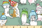 Clothworks - Having a Ball - Cats in Hats - Sage Green (Y3187-111)