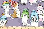 Clothworks - Having a Ball - Cats in Hats - Lilac (Y3187-27)