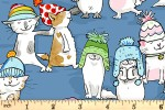Clothworks - Having a Ball - Cats in Hats - Blue (Y3187-88)
