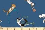 Clothworks - Having a Ball - Playing with Wool - Dark Blue (Y3188-89)