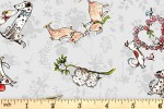 Clothworks - From the Heart - Animal Friends - Mist Grey (Y3358-116)