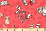 Clothworks - From the Heart - Animal Friends - Dark Coral (Y3358-40)
