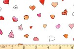 Clothworks - From the Heart - Hearts - White (Y3360-1)