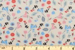 Craft Cotton Co - Knitting Cats - Floral Scatter - Cream (2399-05)