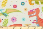 Craft Cotton Co - Cotton Poplin Prints - Dino World - Ivory (2402-03)