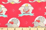Craft Cotton Co - Disney Dumbo - The Flying Elephant - Coral (2450-05)