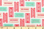 Craft Cotton Co - Disney Dumbo - Circus Tickets - Pink (2450-06)
