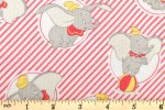 Craft Cotton Co - Disney Dumbo - Stripes - Light Coral (2450-08)