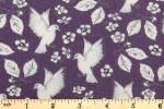 Craft Cotton Co - Garden Birds - Birds and Flowers - Purple (2655-05)
