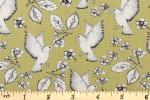 Craft Cotton Co - Garden Birds - Birds and Flowers - Green (2655-08)