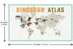 Craft Cotton Co - Age of the Dinosaurs - Dinosaur Atlas Panel (2713-06)