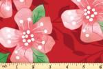 Craft Cotton Co - Birds of Paradise - Cherry Blossom (2753-03)