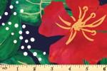 Craft Cotton Co - Birds of Paradise - Hibiscus Flowers (2753-08)