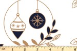 Craft Cotton Co - Metallic Christmas Prints - Baubles and Sprigs (with Gold Metallic) (2801-01)
