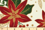 Craft Cotton Co - Traditional Poinsettia Metallic - Poinsettia - Cream (with Gold Metallic) (2806-05)