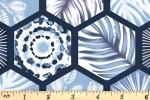 Craft Cotton Co - Indigo Elements - Hexagons - Navy (2833-11)