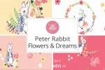 Craft Cotton Co - Peter Rabbit Flowers and Dreams Collection