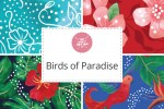 Craft Cotton Co - Birds of Paradise Collection