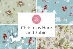 Craft Cotton Co - Christmas Hare and Robin Collection
