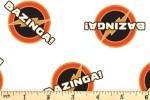 Camelot Fabrics - The Big Bang Theory - Bazinga - White (23680105/2)