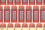 Camelot Fabrics - From London with Love - Phone Box - Red (301701081)