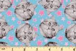 Camelot Fabrics - Cats Rule - Superstars - Blue (34180102/1)