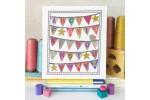 Caterpillar Cross Stitch - Baby Bunting - Pinks (Cross Stitch Kit)