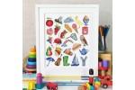 Caterpillar Cross Stitch - Watercolour Alphabet (Cross Stitch Kit)