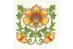 My Cross Stitch - Historical Collection - Art Nouveau Sunflower (Cross Stitch Kit)
