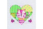 My Cross Stitch - Cat in Heart (Cross Stitch Kit)