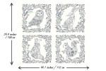 Dashwood - Boho Meadow - Animal Block Panel (BOHO1372)