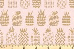 Dashwood - Ocean Drive - Pineapples - Blush Pink with Gold Metallic (OCDR1470)
