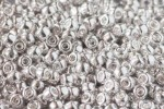 Debbie Abrahams Glass Seed/Rocaille Beads, Metallic Silver (563) - Size 6, 4mm