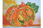 Diamond Dotz - Autumn Pumpkin Amber Sparkle (Diamond Painting Kit)