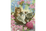 Diamond Dotz - Kitty Knits (Diamond Painting Kit)