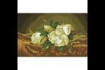 Diamond Dotz - Magnolias on Gold Velvet - Après Martin Johnson Heade (Diamond Painting Kit)