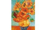 Diamond Dotz - Van Gogh - Sunflowers (Diamond Painting Kit)