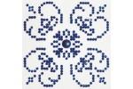 Diamond Dotz - Blue on White (Diamond Painting Kit)