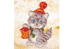 Diamond Dotz - Christmas Kitten Glow (Diamond Painting Kit)