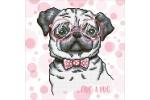 Diamond Dotz - Hug a Pug (Diamond Painting Kit)