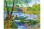 Diamond Dotz - Van Gogh - Fishing in Spring (Diamond Painting Kit)