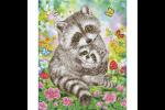 Diamond Dotz - Sweet Raccoons (Diamond Painting Kit)