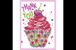 Diamond Dotz - Greeting Card - Cupcake Thank You (Diamond Painting Kit)