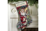 Dimensions - Gold - Candy Cane Santa Stocking (Cross Stitch Kit)
