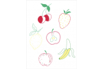 DMC Magic Paper Sheets - Fruits Collection (Embroidery)