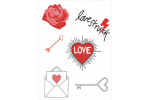DMC Magic Paper Sheets - Love Collection (Embroidery)