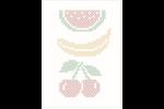 DMC Magic Paper Sheets - Fruits Collection (Cross Stitch)